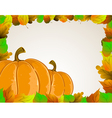 Pumpkins and leaves vector image vector image