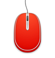 Red Computer Mouse vector image