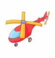 Red helicopter icon cartoon style vector image vector image
