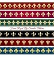 Royal seamless border patterns vector image
