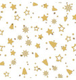 seamless pattern with christmas ornaments vector image vector image