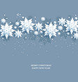 seasonal background and snow vector image vector image