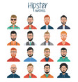 set hipster avatars avatar icons vector image