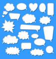 set of cartoon doodle speech bubbles template for vector image vector image