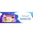 smart home 20 concept banner header vector image vector image