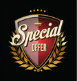 special offer badge vector image
