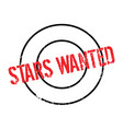 stars wanted rubber stamp vector image vector image