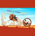 steampunk cartoon vector image vector image