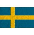 Sweden paper flag vector image