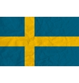 sweden paper flag vector image vector image