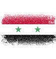 syria grunge flag vector image vector image