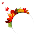 Thanksgiving Colorful Autumn Leaf Background vector image