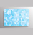 the blue pieces background puzzle jigsaw banner vector image vector image
