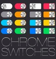 user interface set chrome switches vector image