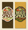 vertical banners for spices vector image