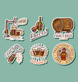 vintage beer stickers set alcoholic label vector image vector image