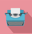vintage typewriter icon flat style vector image vector image