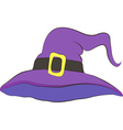 violet witch hat good for hallowe vector image vector image