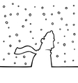 Walking through snowy weather vector | Price: 1 Credit (USD $1)