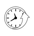 wall clock sticker vector image vector image