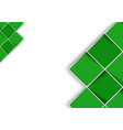 white background with green decorative squares vector image vector image