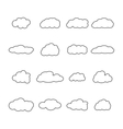 Set of icons of clouds vector image