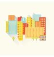 Sunny summer city vector image