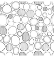 Seamless abstract decorative pattern of circles vector image