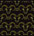 yellow ram head seamless pattern vector image