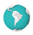 3d earth globe with blank political map dropping vector image vector image