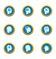 ability to think icons set flat style vector image