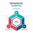 abstract colorful hexagon business infographics vector image vector image