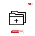 add folder icon vector image vector image