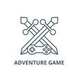 adventure game line icon adventure game vector image