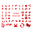 Arrow set 50 vector image vector image