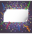 Background with banner vector image vector image