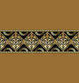 baroque damask gold 3d seamless borders pattern vector image