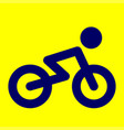 bicycle icon bicycle vector image vector image