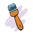 cartoon painting brush isolated icon vector image