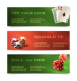 Casino horizontal banners vector image vector image