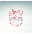 Christmas snow environment vector image
