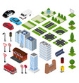 city isometric urban cityscape with vector image vector image