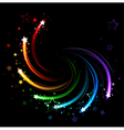 colored sparks vector image vector image