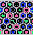 colorful hipster pattern vector image vector image