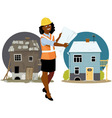Contractor with a remodeling project vector image vector image