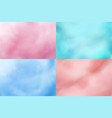 cotton candy backgrounds realistic candyfloss vector image vector image