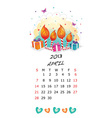 Cute 2013 Picture Calendar vector image