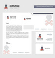 danger business letterhead envelope and visiting vector image vector image