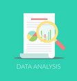 data analysis flat icon report document vector image