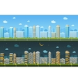 Day and night urban landscape vector image vector image